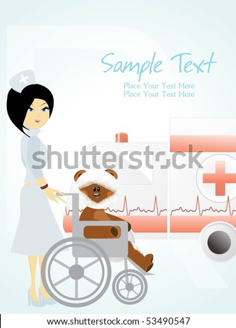 vector illustration of medical background - stock vector