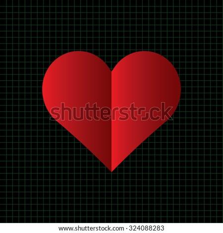 Vector illustration of medical heart  background.eps10  - stock vector