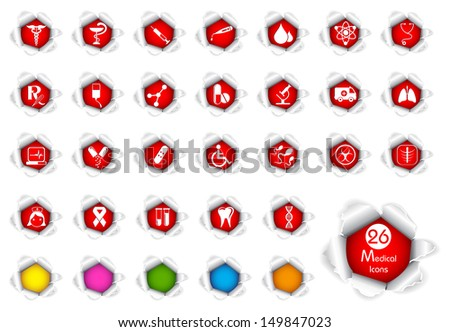 vector illustration of Medical icon with different color option - stock vector