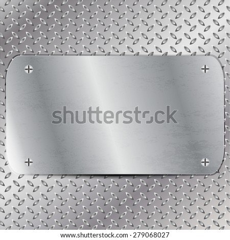 Vector illustration of Metal board - stock vector