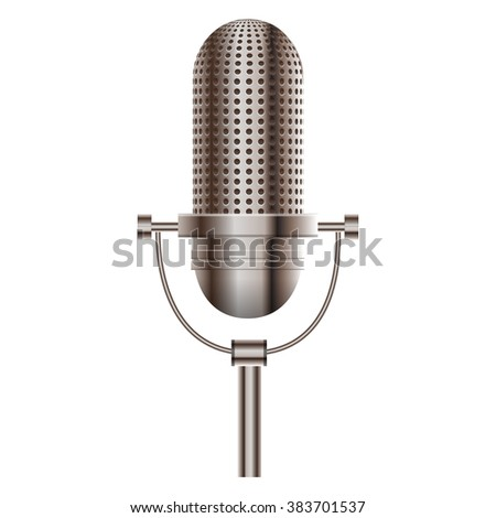 Vector illustration of microphone - stock vector