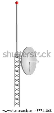 Vector illustration of mobile antennas - stock vector