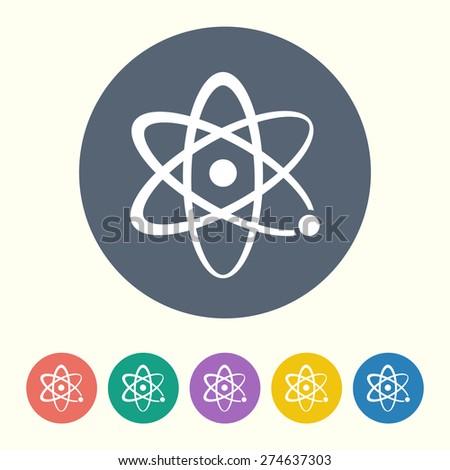 vector illustration of modern black icon atom - stock vector