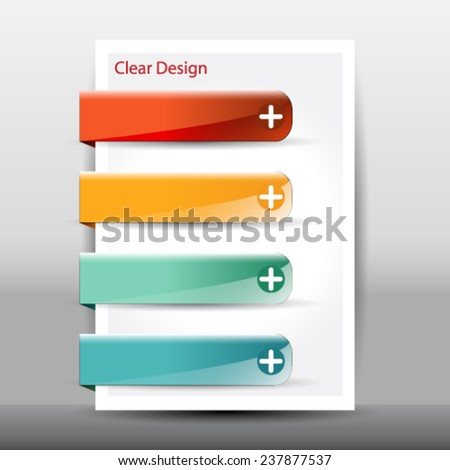 Vector illustration of modern design template - stock vector