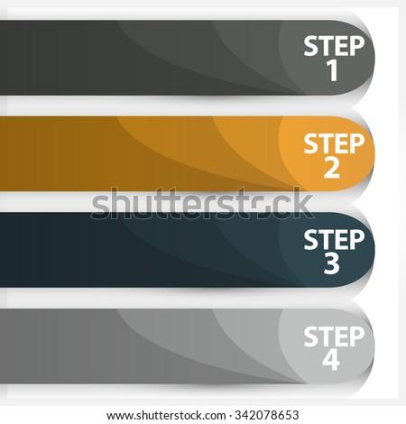 Vector illustration of modern design template - stock vector