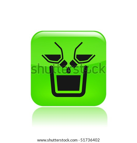 Vector illustration of modern icon depicting two bottles pouring liquid into a container - stock vector