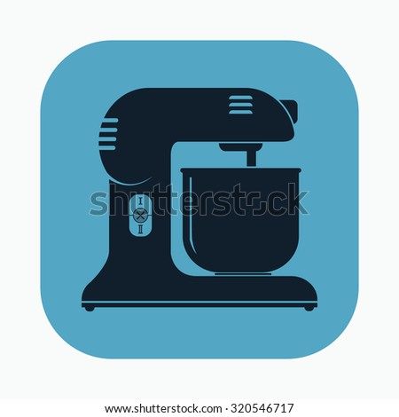 vector illustration of modern icon mixer - stock vector