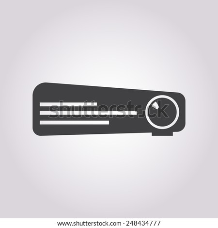 vector illustration of modern icon projector - stock vector