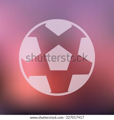 vector illustration of modern icon soccer ball - stock vector