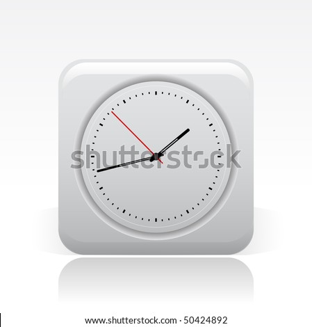 Vector illustration of modern single icon depicting a clock - stock vector
