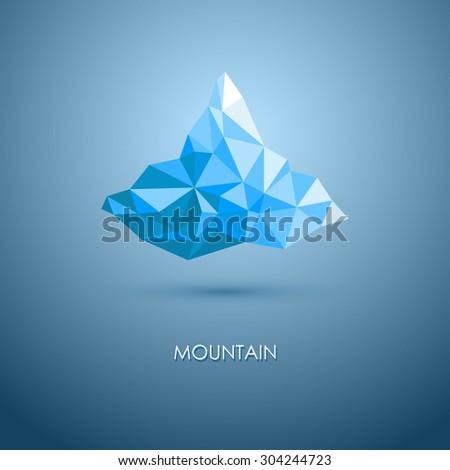 vector illustration of mountain. mountain logo. Triangle mountain. mountain design. - stock vector