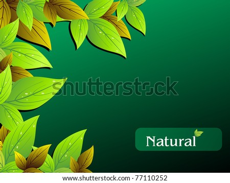 vector illustration of nature concept wallpaper - stock vector