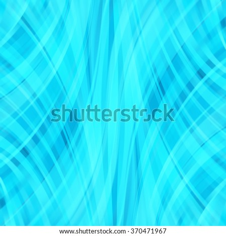 Vector illustration of neon blue abstract background with blurred light curved lines. Vector geometric illustration. - stock vector
