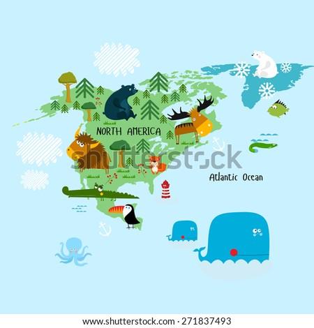 "Vector illustration of ""North America"" - stock vector"