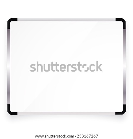 Vector illustration of office board with place for your text - stock vector