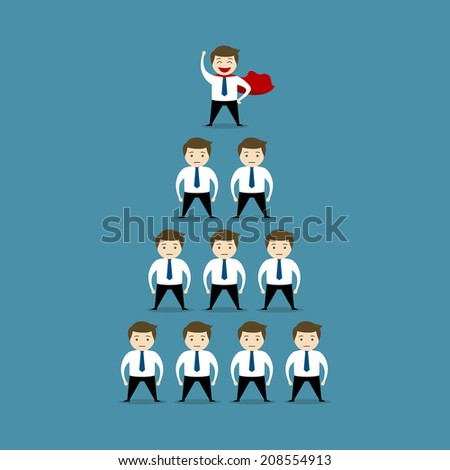 Vector Illustration of Office Worker - stock vector