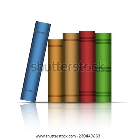 Vector illustration of old books. Vector illustration - stock vector