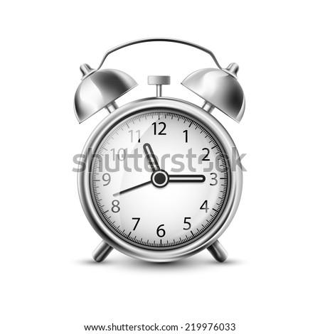 Vector illustration of old clock - stock vector