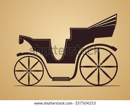 Vector illustration of old vehicle - stock vector