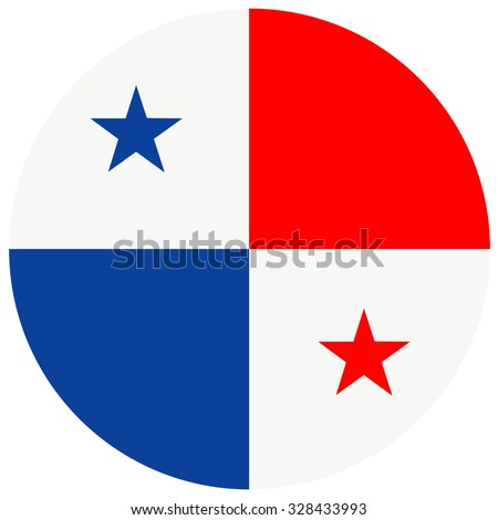 Vector illustration of panama flag.  Round national flag of  panama. Panamian flag  - stock vector