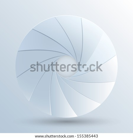 Vector illustration of paper camera aperture. Eps10 - stock vector