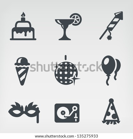 Vector illustration of party on light background - stock vector