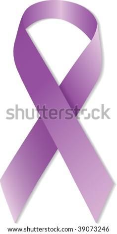 Vector illustration of purple Awareness Ribbon - stock vector