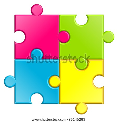 Vector illustration of puzzle - stock vector