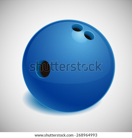 Vector Illustration of Realistic Bowling ball - stock vector