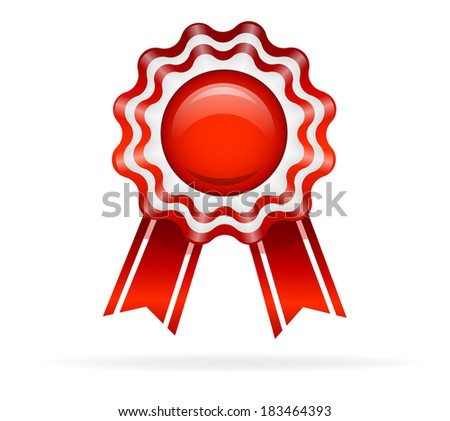 Vector illustration of Red medal - stock vector