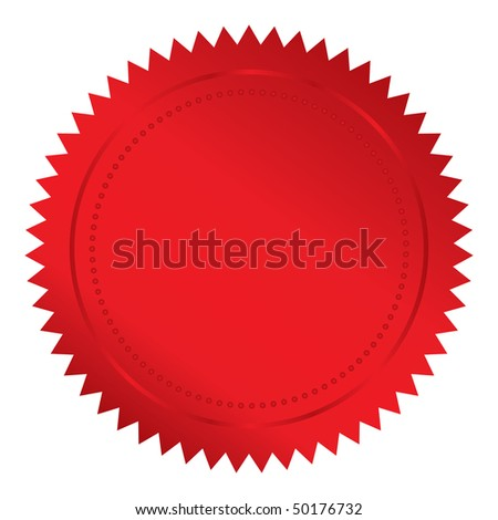 Vector illustration of red seal - stock vector