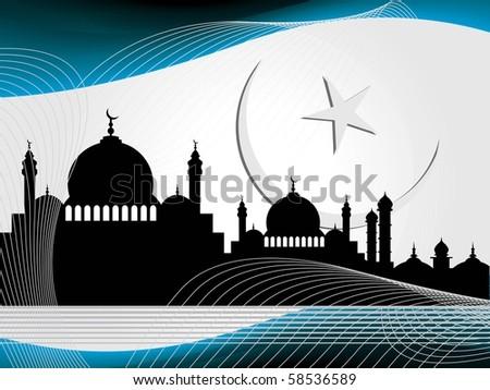 vector illustration of religious eid background - stock vector