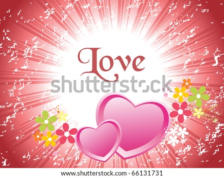 vector illustration of romantic love background - stock vector