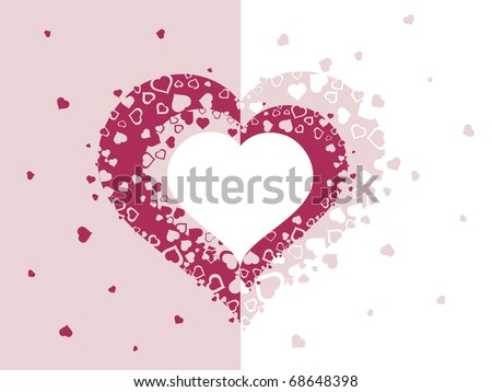 vector illustration of romantic valentine day background - stock vector