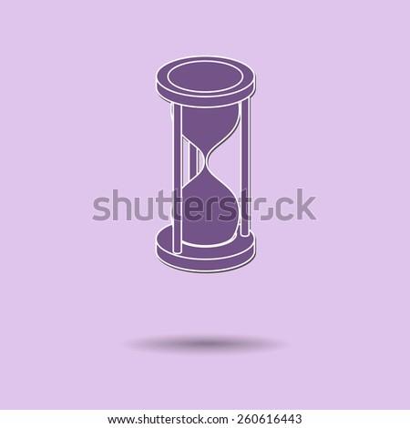 Vector illustration of  Sandglass color background. - stock vector