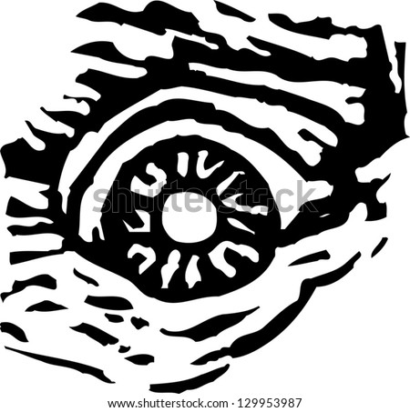 Vector illustration of scary eye - stock vector