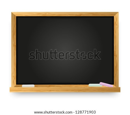 Vector illustration of school chalkboard - stock vector