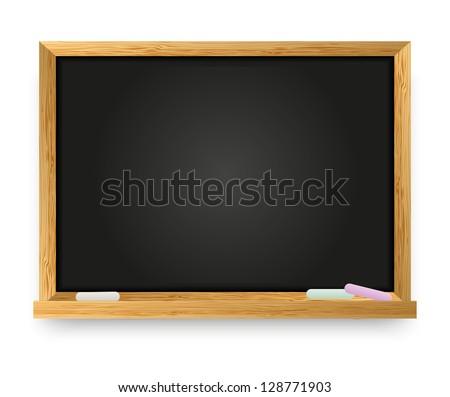 Vector illustration of school chalkboard - stock vector