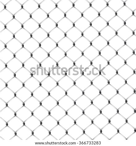 Vector illustration of seamless fence isolated. - stock vector