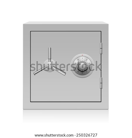 Vector illustration of security metal safe - stock vector