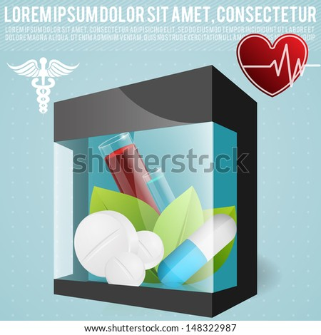 vector illustration of set of medical icon - stock vector