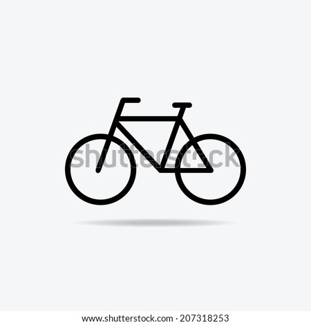 Simple bicycle illustration - photo#15