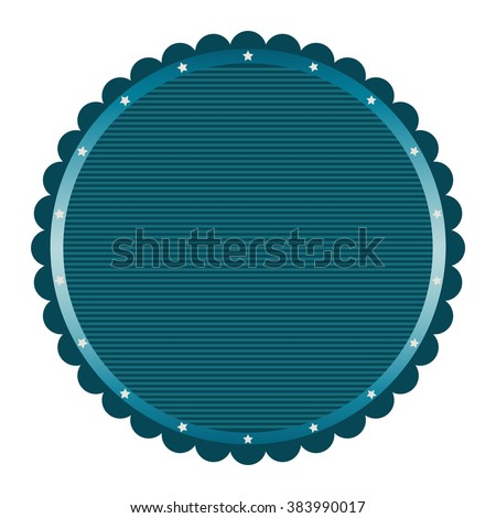 Vector illustration of simple blank tag, label, frame - stock vector