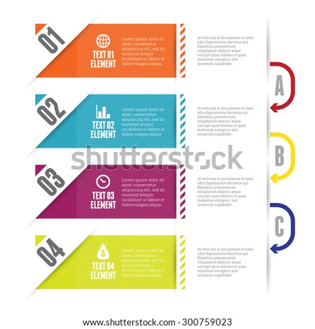 Vector illustration of slip up infographic design elements. - stock vector