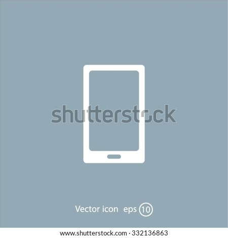 Vector illustration of smartphone icon - stock vector