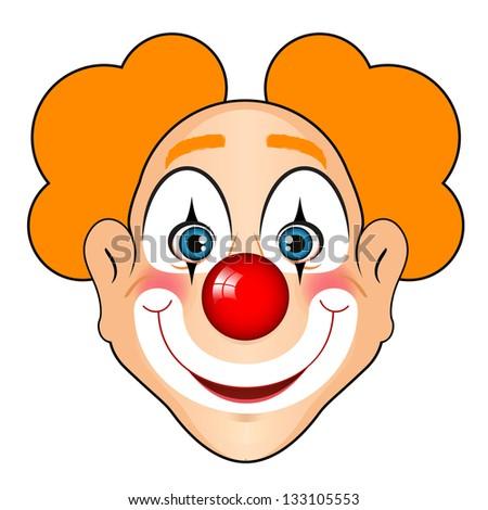 Vector illustration of smiling clown - stock vector