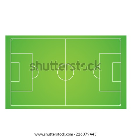 Vector illustration of Soccer field - stock vector