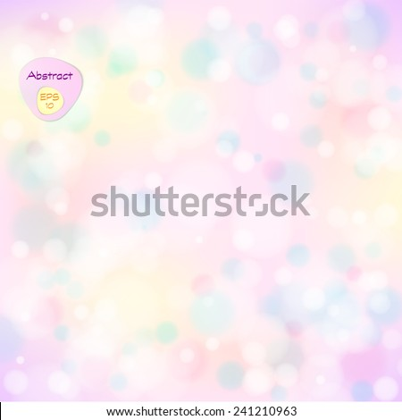 Vector illustration of soft colored abstract background. Elegant abstract background with bokeh lights and stars.  Holiday Abstract Glitter Defocused Background With Blinking Stars. Blurred Bokeh. - stock vector