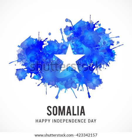 Vector illustration of Somalia independence day. - stock vector