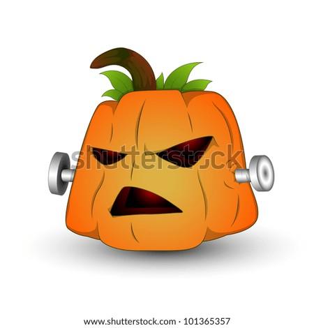 Vector Illustration of Spooky Jack O Lantern - stock vector